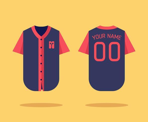 Maqueta del jersey de béisbol