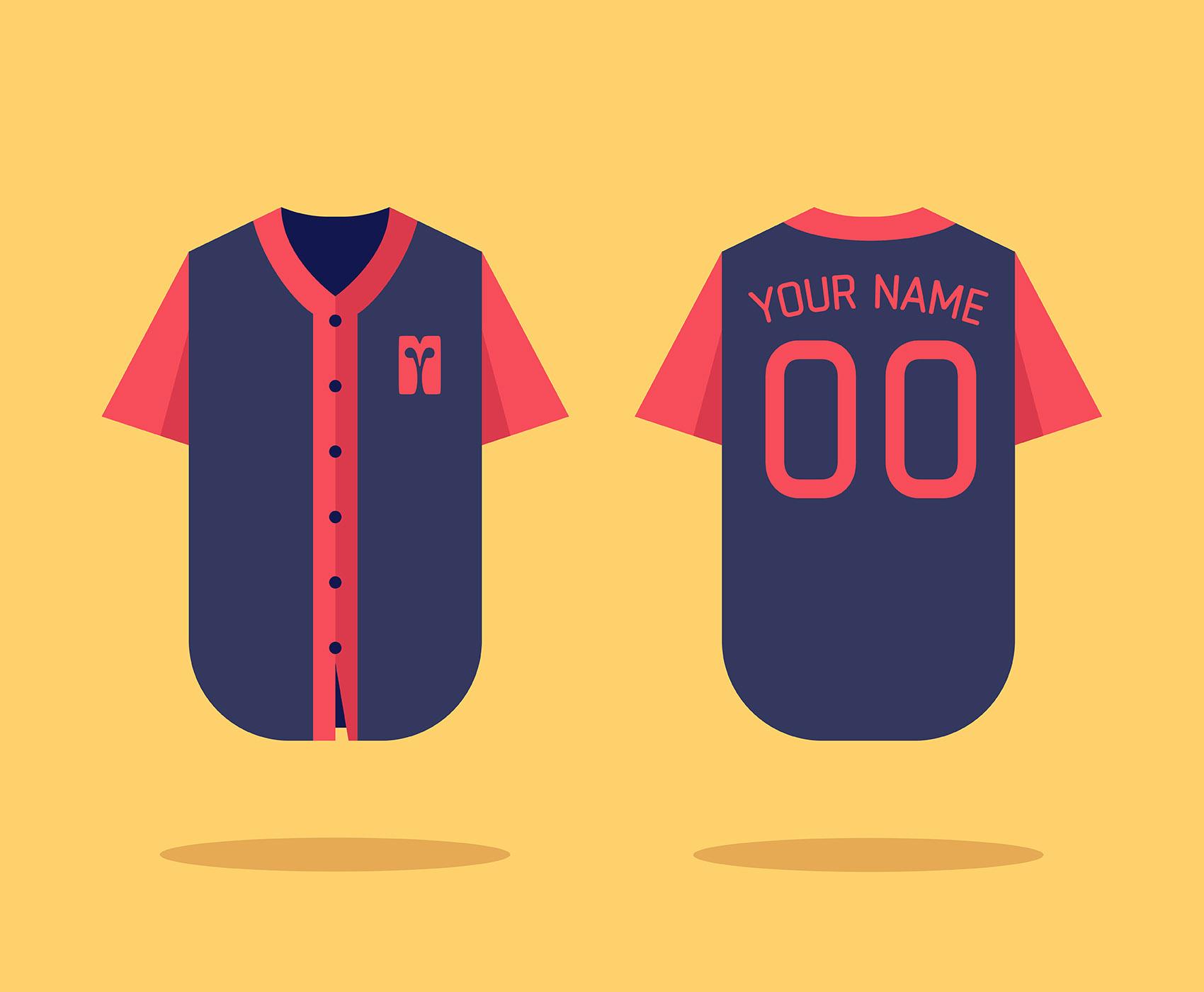 Baseball Jersey Mock-up - Kostenlose Vektor-Kunst, Archiv-Grafiken ...