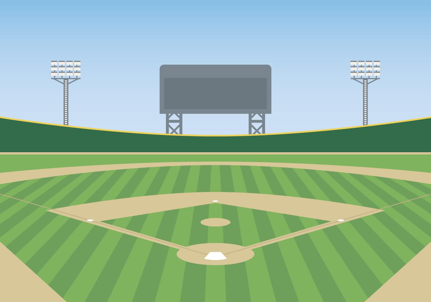 Baseball Park Vector Illustration