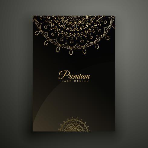 modèle de décoration flyer mandala premium