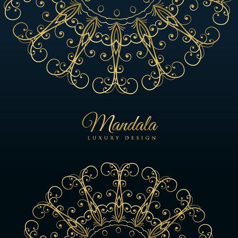 mandala ornamental lujo fondo dorado