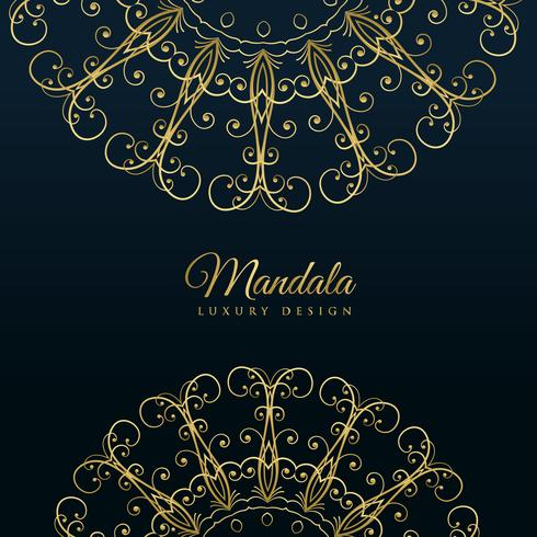 mandala ornamental luxury golden background
