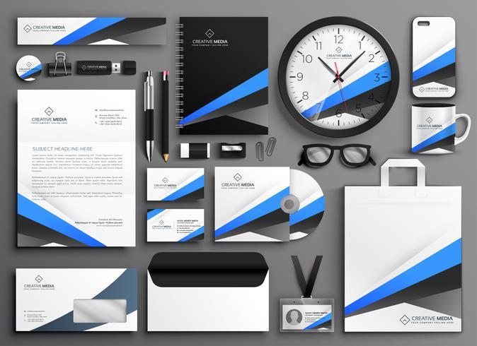 moderne zakelijke briefpapier decorontwerp