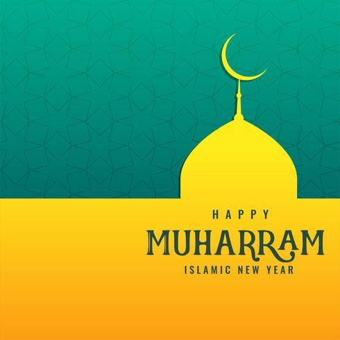 fond de mosquée islamique heureux muharram