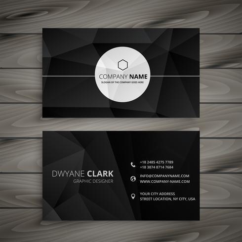abstrakt svart visitkort mall