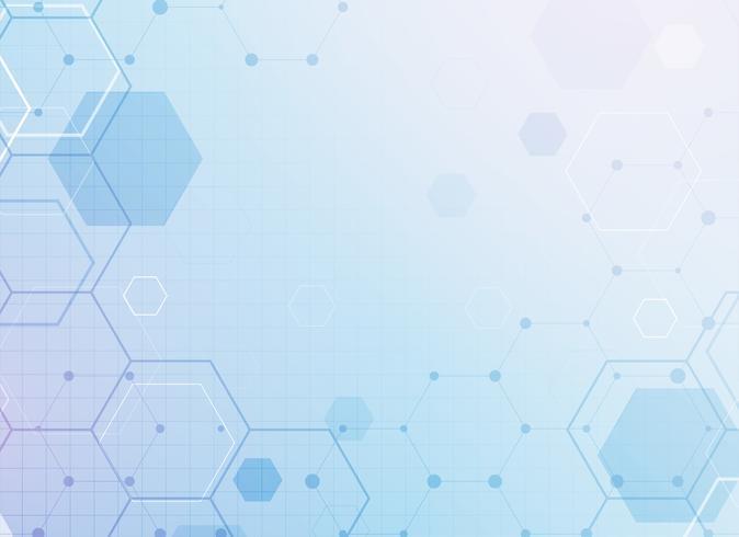 abstracto geométrico hexagonal médico o ciencia fondo conce
