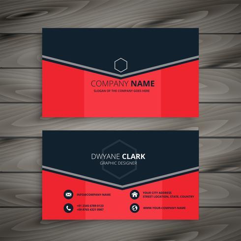design de carte de visite entreprise rouge élégant