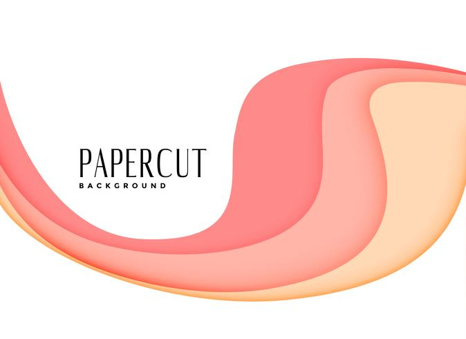 fundo de papercut em camadas rosa elegante