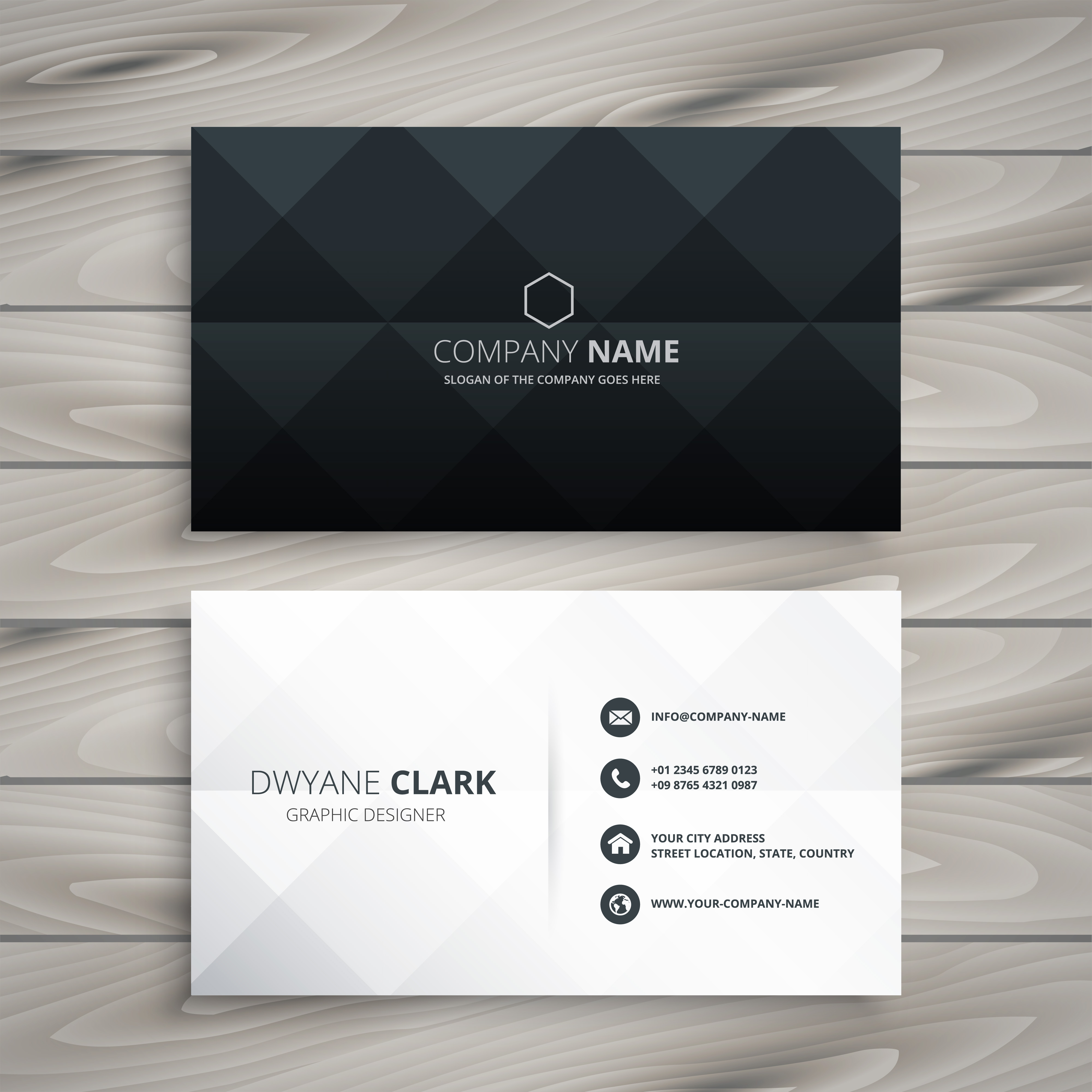 Modern White And Gray Bedroom Ideas: Modern Black And White Business Card Design