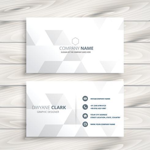 design élégant blanc carte de visite