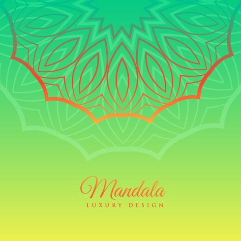 green background with mandala decoration