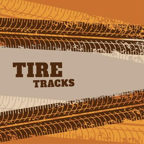 trilha abstrata do pneu marca o fundo