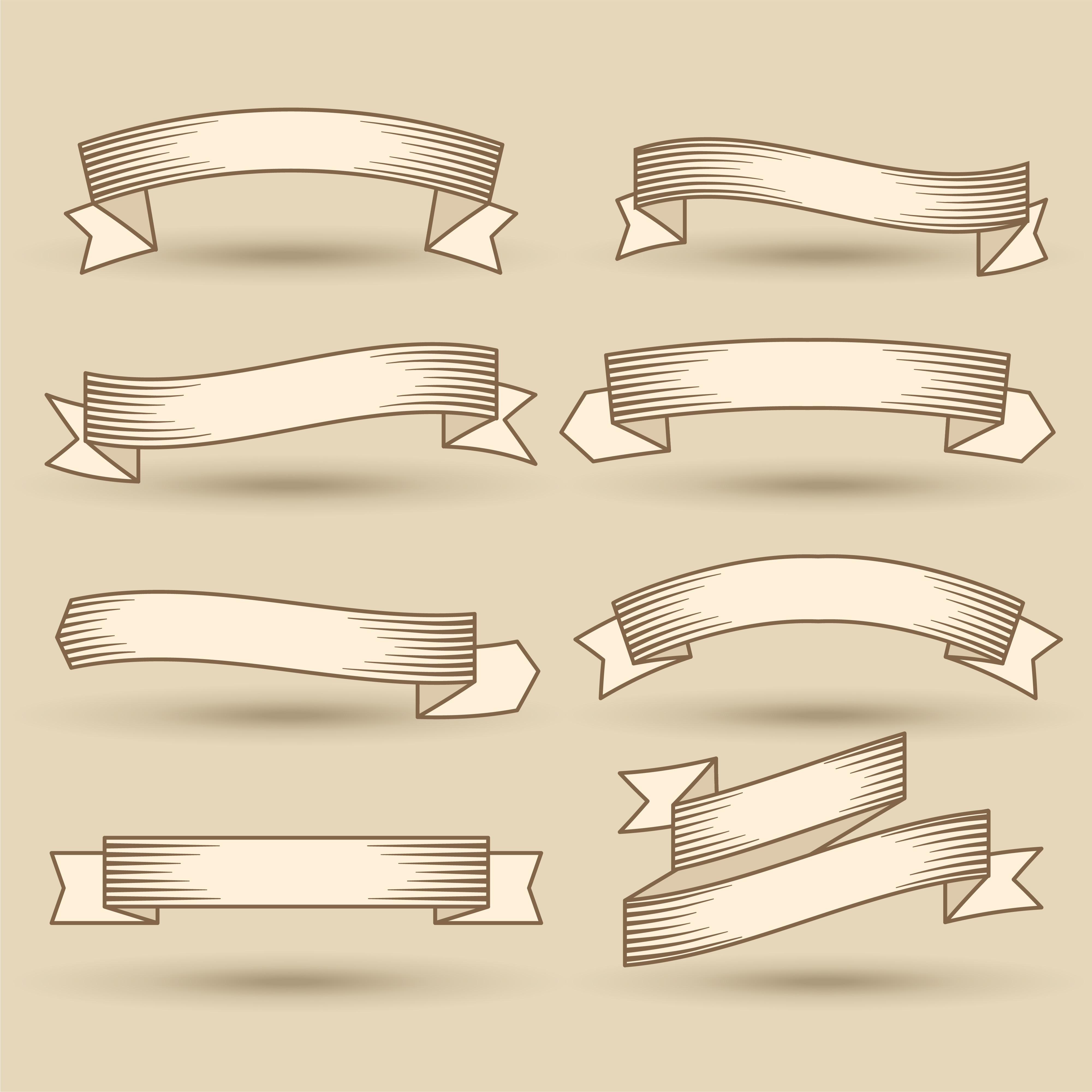 old vintage ribbons banner set - Download Free Vector Art ...