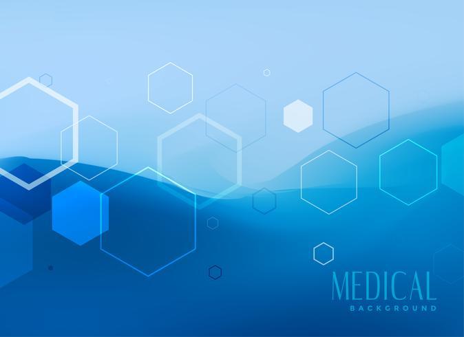 conception de concept de fond médical en couleur bleue