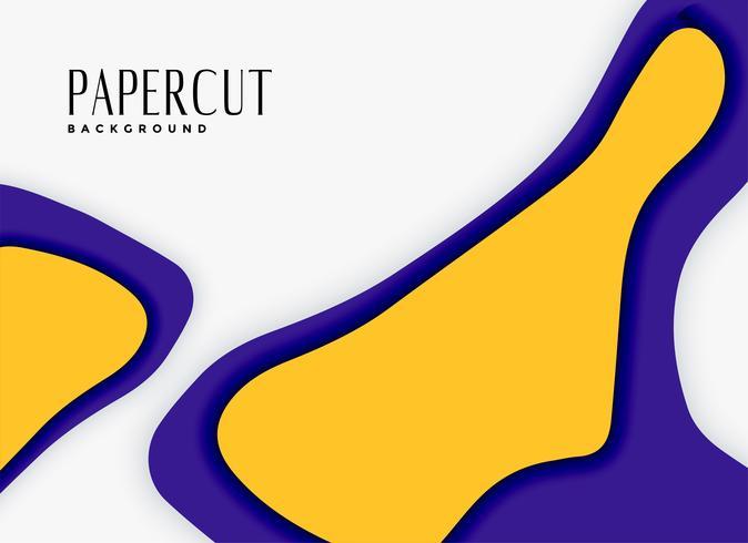 sfondo astratto papercut nei colori viola e gialli