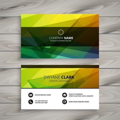 modèle de carte de visite de formes colorées abstraites