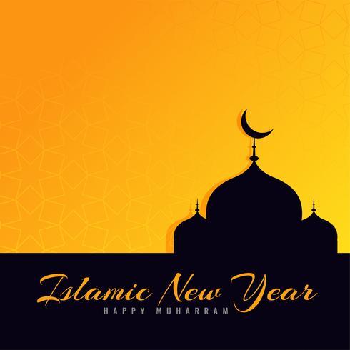 beautiful islamic new year greeting design