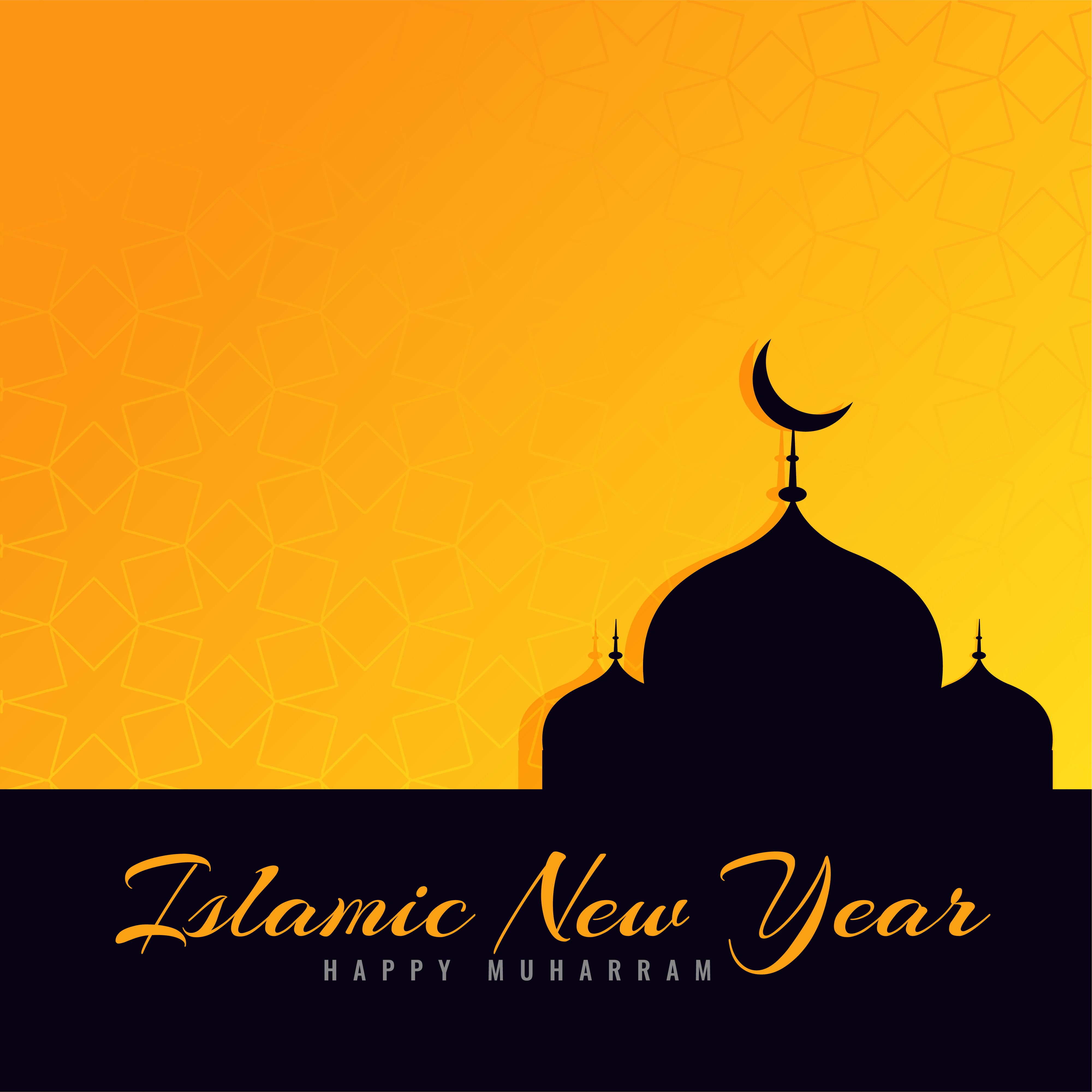 beautiful islamic new year greeting design download free vector art stock graphics images