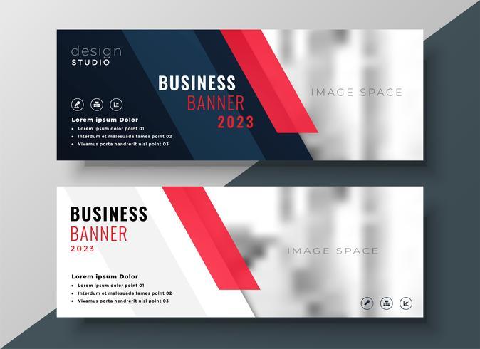 conception de bannière professionnelle d'entreprise