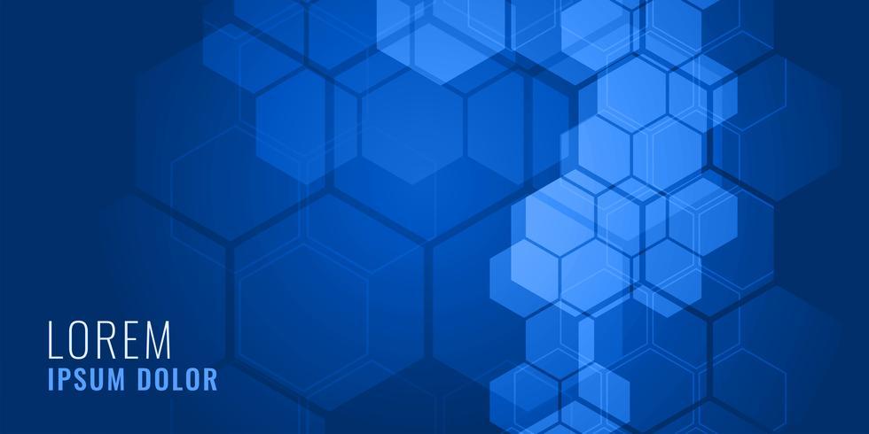blauwe zeshoekige vorm medische achtergrond concept
