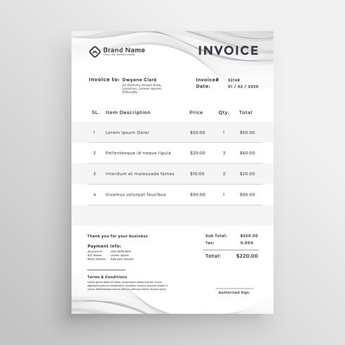 elegant invoice template for your business