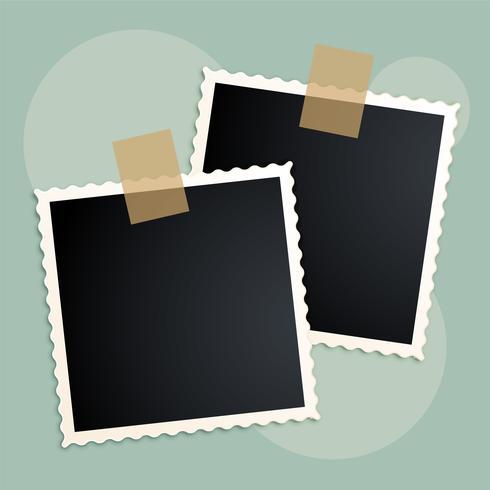 cadre photo rétro conception de scrapbook