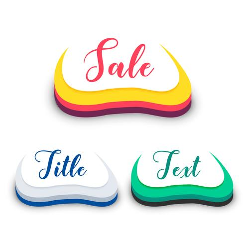 abstrakt 3d stil försäljning symbol design