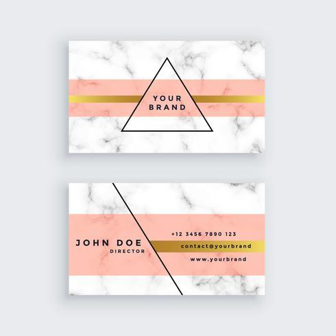 Premium marmor visitkort design i minimal stil