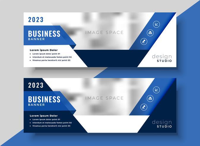 conception de bannière bleue d'entreprise pour votre entreprise