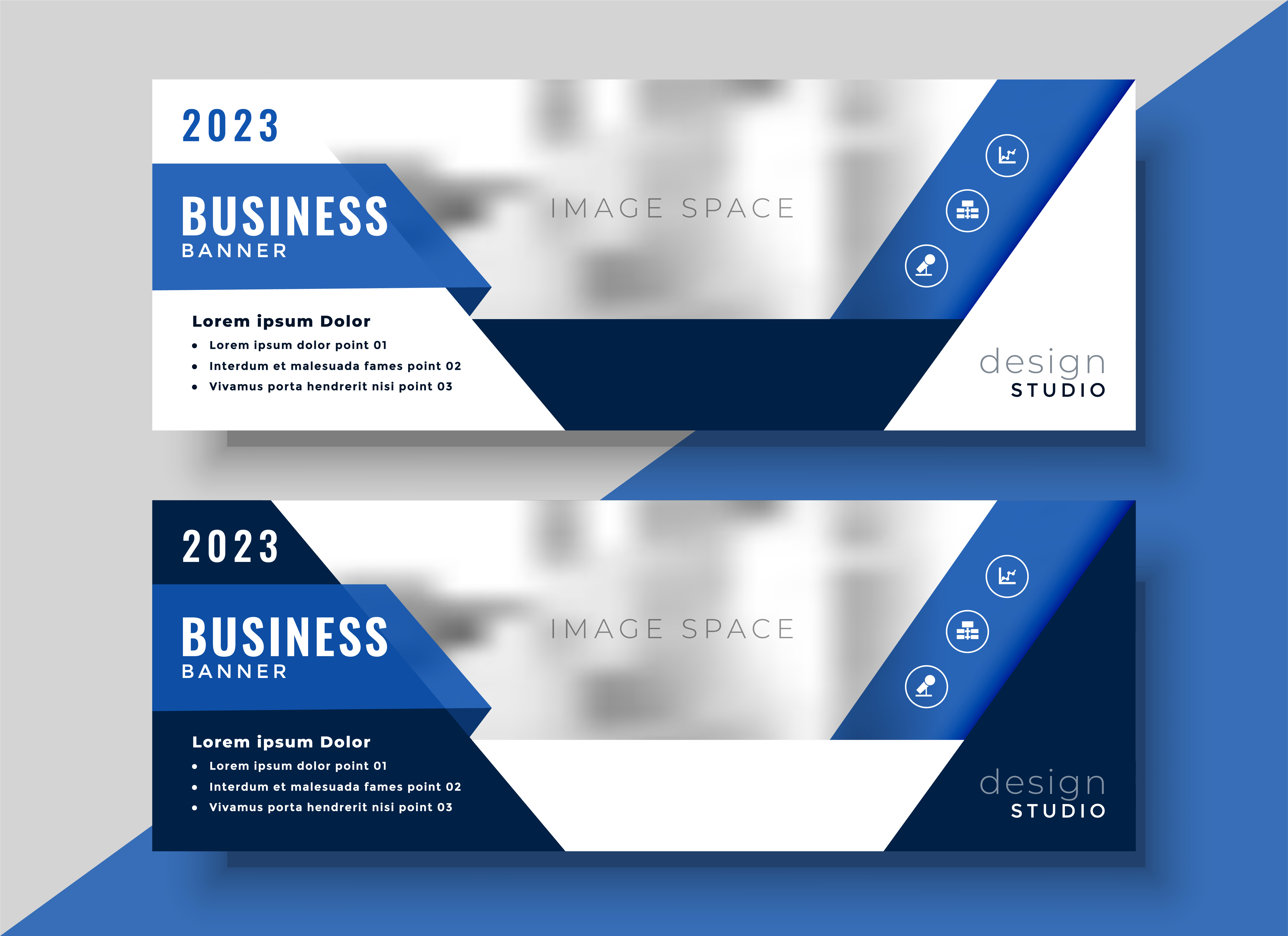 corporate blue banner design for your business - Download ...
