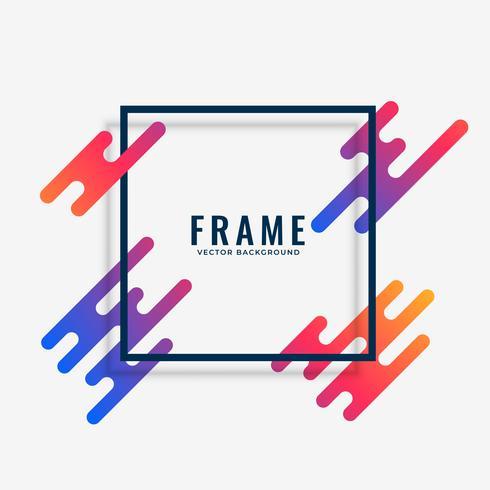 conception de cadre coloré moderne avec un espace de texte