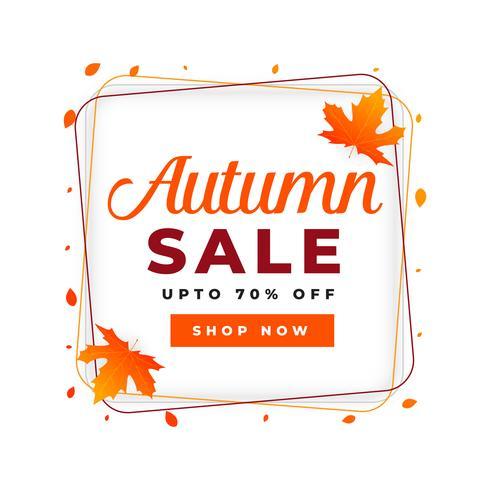 modello di progettazione del manifesto di vendita autunno