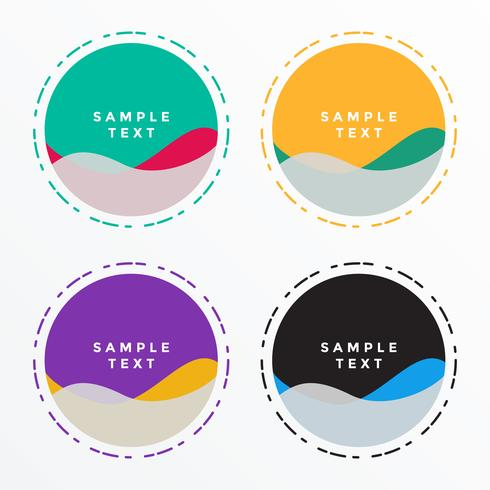 abstract circle shape banners set