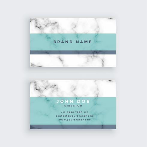 marmeren visitekaartje ontwerp met pastel kleur