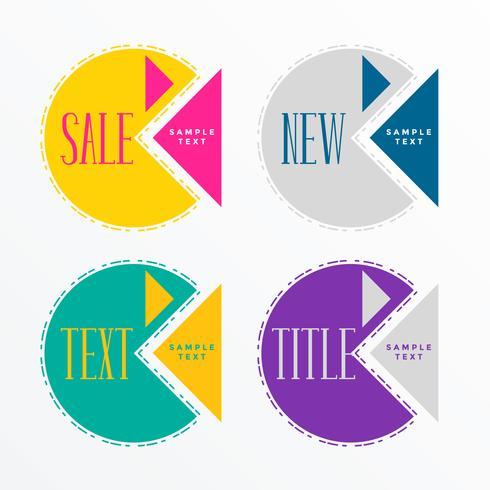 diseño de etiqueta de venta geométrica abstracta