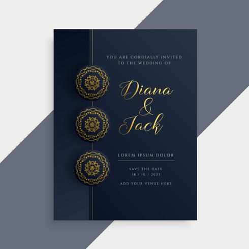 Luxury wedding invitation card design in dark and gold color luxury wedding invitation card design in dark and gold color stopboris Gallery