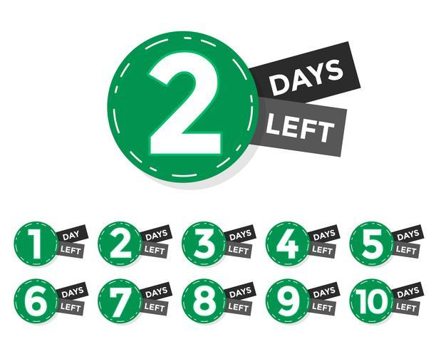antal dagar kvar märke eller etikett design