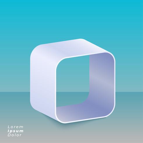 Fondo de diseño de caja curva 3D