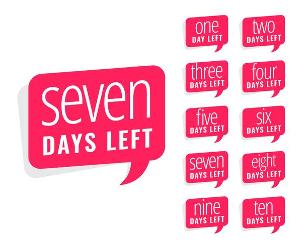 number of days left sticker design for sale and promotion