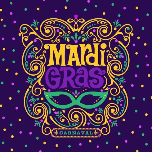 mardi gras carnaval ornamentado decoração design