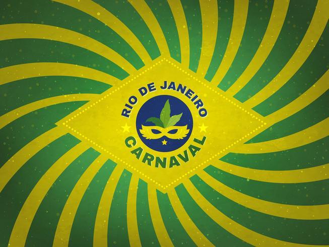 Retro bandiera del Brasile Carnaval Tent Design