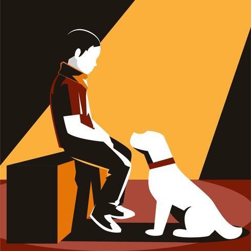 Pojke och hans hund