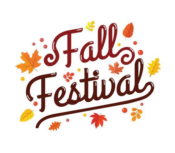 Tipografía Fall Festival Posterl vector