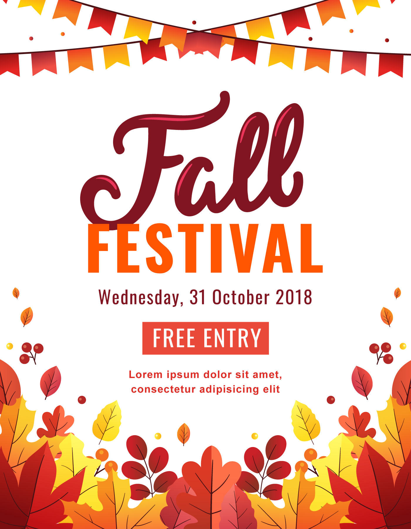 Fall Festival Poster - Download Free Vectors, Clipart ...
