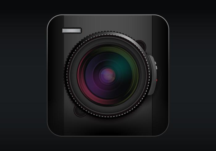 Fotocamera DSLR realistica