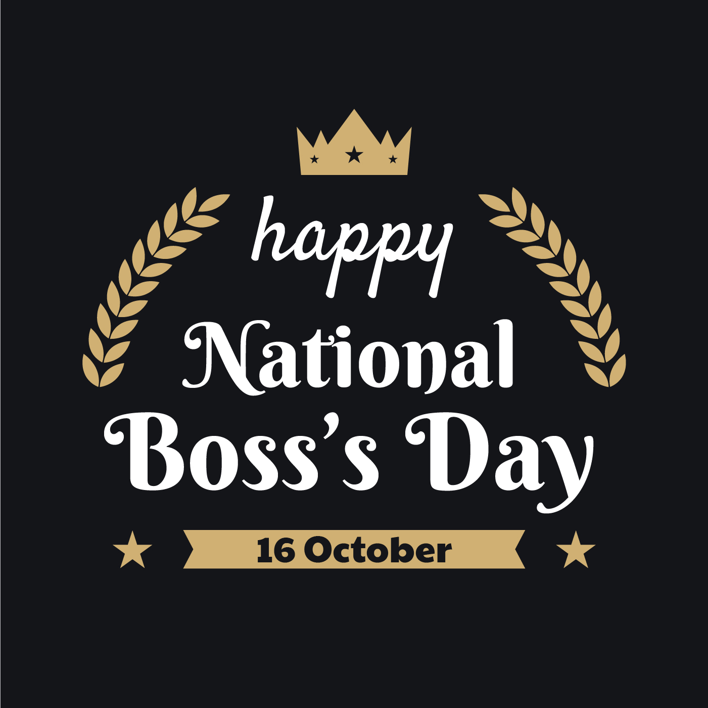 Happy National Boss Day Download Free Vector Art Stock Graphics