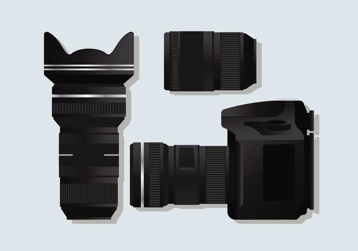 Realistische DSLR-Kamera
