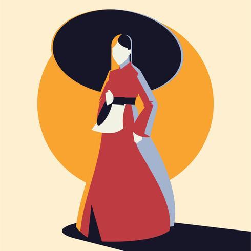 Lady in Handbock