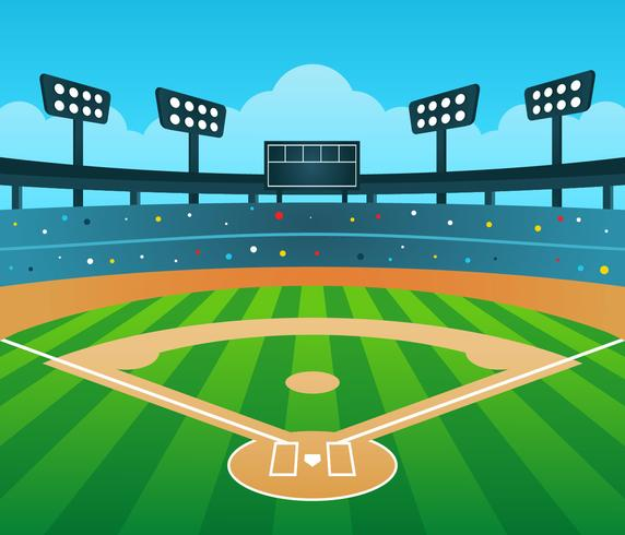 Baseball Stadium Background Vector - Download Free Vector Art, Stock Graphics & Images