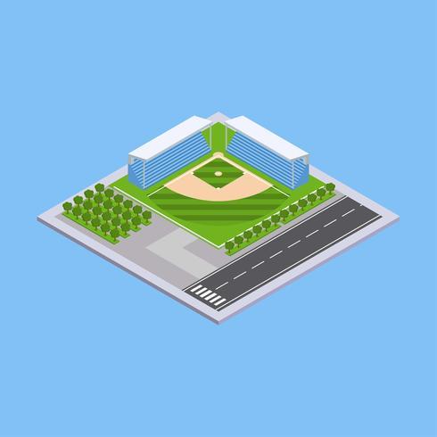 Baseball-Feld-isometrischer Vektor